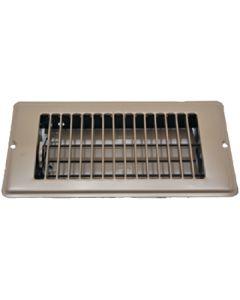 Floor Register Brown 4 X8 - Metal Floor Register