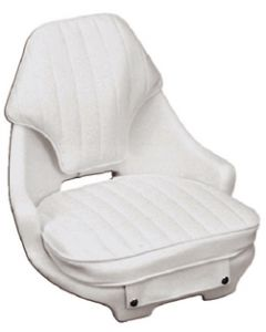 Moeller White 2050 Chair Helm Boat Seat, Cushion Set and Mounting Plate