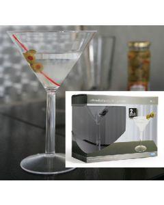 Camco, Martini Glass, 10 oz., 2-Pack, Boat Cabin Accessories