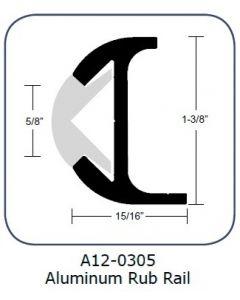 "Taco Marine Taco Rub Rail 1-3/8"" Aluminum 12'"
