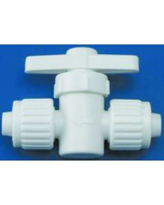 Elkhart Supply Co 1/2 X1/2  Straight Valve - Flared- Cone & Nut Fittings