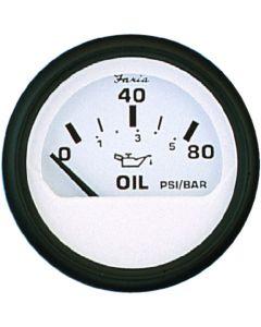 Faria 80 Psi Oil Pressure Guage, White