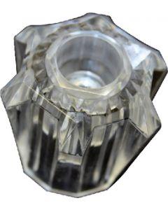 Handles-Utopia Clear 2Pk - Faucet Knob