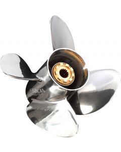 """Solas HR Titan  13"""" x 19"""" pitch Standard Rotation 4 Blade Stainless Steel Boat Propeller"""