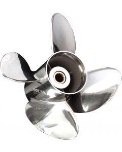 "Solas HR Titan  14"" x 21"" pitch Standard Rotation 4 Blade Stainless Steel Boat Propeller"
