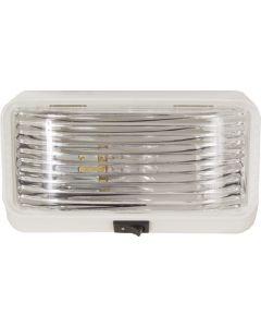 Porchlight Sqr W/Switch Clear - Rectangular Porch/ Utility Light