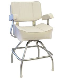 Springfield Deluxe Captain's Seat With Stand, White