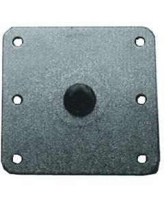 "Springfield 7"" X 7"" Steel KingPin 3/4 Gray Seat Pedestal Base"