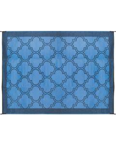Outdoor Mat 6'X9' Blue/Blue - Lattice Outdoor Leisure Mat