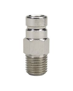 """Moeller 1/4"""" NPT Chrome Plated Brass, Engine Size to 90HP, Male Fuel Line Tank Connector for Nissan Tohatsu"""