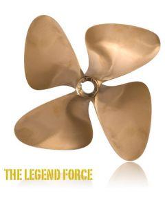 "OJ Propellers 4-Force 4-Blade 13 x 14 L 1-1/8"" Bore"