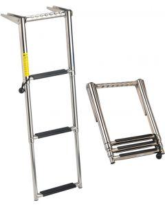 Garelick EEz/In Over Platform Telescoping Ladder Telescoping Boat Ladders