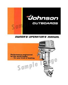 Ken Cook Co. 1969 Johnson Boat Parts Catalog 978921B