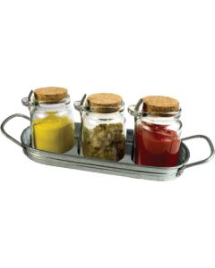 Oasis Condiment Set - 10 Pc Masonware Condiment Set