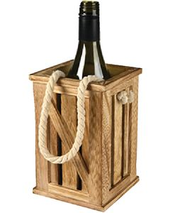 Wood Wine Bottle Tote - Wood Wine Bottle Tote