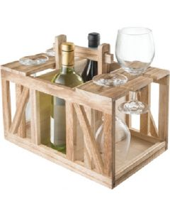 Wood Wine Caddy - Wood Wine Caddy