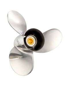 "Solas Titan  13.75"" x 13"" pitch Standard Rotation 3 Blade Stainless Steel Boat Propeller"