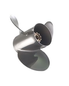 "Quicksilver Silverado  13.50"" x 23"" pitch Counter Rotation 3 Blade Stainless Steel Boat Propeller"