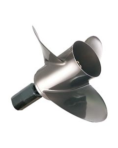 "Quicksilver Lightspeed  13.50"" x 22"" pitch Standard Rotation 3 Blade Stainless Steel Boat Propeller"