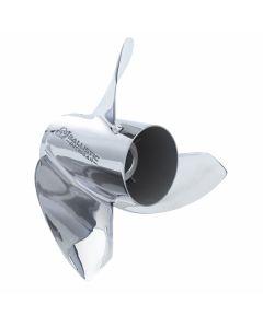 "Michigan Wheel Ballistic XHS  13.63"" x 15"" pitch Standard Rotation 3 Blade Stainless Steel Boat Propeller"
