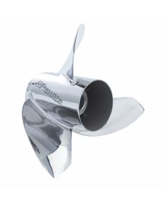 "Michigan Wheel Ballistic XHS  13.50"" x 22"" pitch Standard Rotation 3 Blade Stainless Steel Boat Propeller"