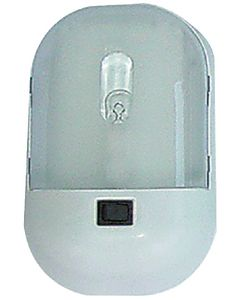 Fasteners Unlimited Single Wht. Light W/Polylens - Command Omega Interior Dome Light