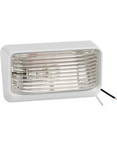 Fulton Products Light Ash Wht. Clear Lens - #78 12V Porch/Utility Light