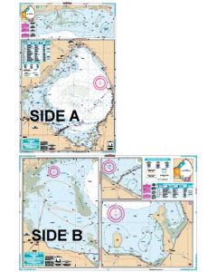 Waterproof Charts Lake Okeechobee Lake Fishing Chart