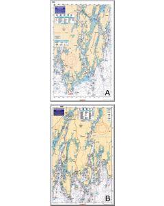 Waterproof Charts Kennebec,  Sheepscott & Damariscotta Rivers