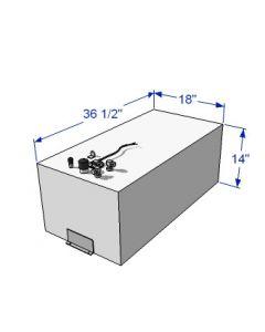 RDS 39 Gallon Below Deck Aluminum Fuel Tank 59055
