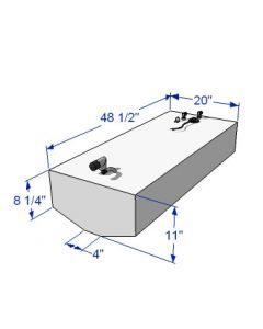 RDS 40 Gallon Below Deck Aluminum Belly Fuel Tank 59182