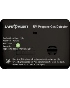 Alarm-12V Surface Mnt Lp Black - Mini Rv Propane/Lp Gas Alarm