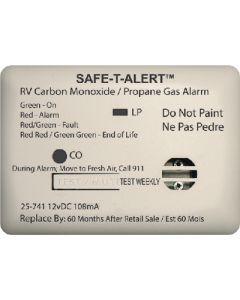 Alarm-12V Surf Mnt Lp-Co White - Mini Rv Dual Carbon Monoxide/Propane Alarm