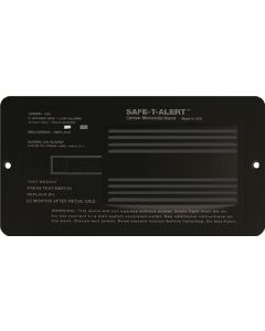 Alarm-12V Flush Mount Co Black - 65 Series Carbon Monoxide Alarm