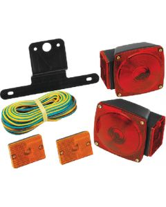 Wesbar Trailer Light Kit with 25' Wire Harness & 2 Amber Clearance/Side Marker Lights - Cequent Trailer Products