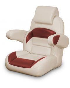 Lexington Low Back Non-Reclining Helm Seat with Arms & Headrest