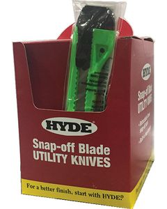 Hyde 49696 Assorted Color Snap Knife Display Bucket 9mm 50/pk
