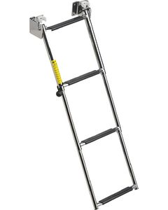 "Garelick Telescoping Transom Ladder, 34.5"" 4-Step"