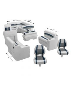 Wise 3020 Talon Series - Complete Fishing Boat Seat Group