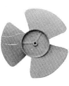 """6 Fan Blade 1/4 Shaft Cw - 6-1/2"""" Fan Blade"""