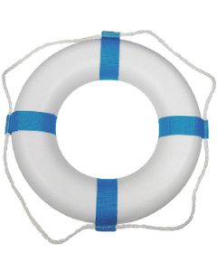 Taylor Made Decorative Ring Buoy - 17 - White/Blue - Not USCG Approved