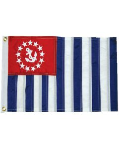 """Taylor Made Flag, US Power Squadron Ensign, 12"""" x 18"""""""