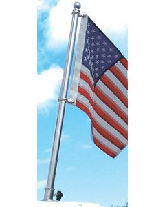 """Taylor Made 24"""" Stainless Steel Boat Flag Pole, 16""""x24"""" Recommended Flag Size"""