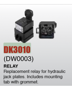 Detwiler Replacement Relay for Hydraulic Jack Plates