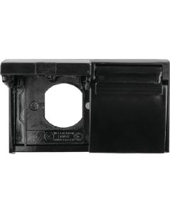 Weather Proof Outlet Cover Blk - Duplex Weatherproof Outlet Cover