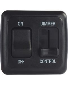 JR Products Dim/Onoff Rckr Sw Ass/W/Bez Bl - Dimmer/On/Off Switch W/Bezel