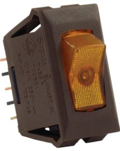 JR Products Illmntd 12V On/Off Sw Amber/Br