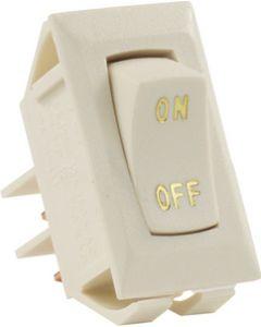 JR Products Labeled 12V On/Off Swtch Ivory - Labeled 12V On/Off Switch