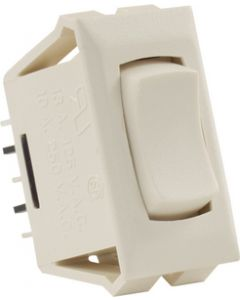 JR Products 12V Mom-On/Off/Mom-On Sw Ivory