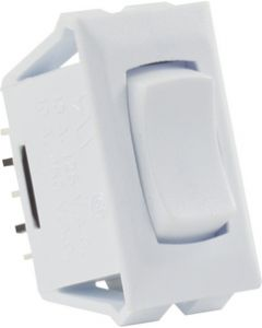 JR Products 12V Mom-On/Off/Mom-On Sw White - On/Off/Momentary-On Switch